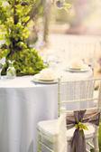 Wedding decoration table — Stock Photo