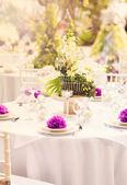 Wedding decoration table — Foto de Stock