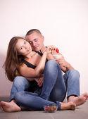 Porträt von glückliches liebespaar — Stockfoto