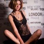 A sexy beautiful girl posing in a studio — Stock Photo #12180284