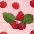 Milkshake with raspberries — 图库照片