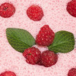 Milkshake with raspberries — ストック写真