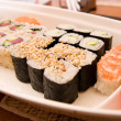 Sushi on a plate — Stock Photo #12277820