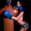 Girl with boxing gloves — Stock Photo #12368744
