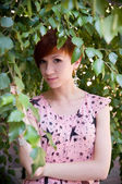 Portret jonge vrouw — Stockfoto