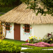 Beautiful rural cottage in summer time. — Stock Photo