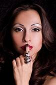 Portrait elegant sexual woman in fashion style — Stock Photo