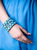 Blue bracelet — Stock Photo