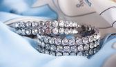 Beautiful jewelry on background — Stock Photo