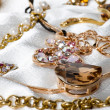 Large collection of gold jewellery — Stock Photo #14108555
