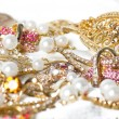 Large collection of gold jewellery — Stock Photo #14108569