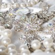 Jewelry background. Many beautiful jewelery — Stock Photo