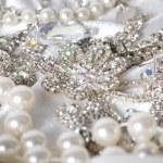 Jewelry background. Many beautiful jewelery — Stock Photo #14108595