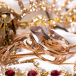 Large collection of gold jewellery — Stock Photo #14108609