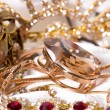 Large collection of gold jewellery — Stock Photo