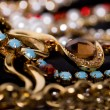 Large collection of gold jewellery — Stock Photo #14108632