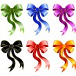 Varicoloured festive bow — Stock Vector #1632903