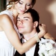 Young couple in a wedding day — Stock Photo #16803869