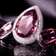 Beautiful ring and earrings — Stock Photo #17586545