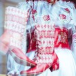 National traditional costume clothes — Stock Photo