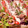 Stock Photo: Set of tasty canape for event party