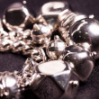 Stock Photo: Silver jewelry