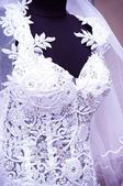 Detail of wedding dress (macro) — Foto Stock