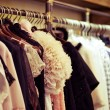 Fashion clothes hang on a hanger - Stockfoto