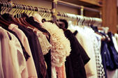 Fashion clothes hang on a hanger — Stock Photo