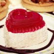 Cake in heart shape — Stock Photo
