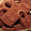 Foto Stock: Rust lock