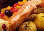 Carne con patate e verdure — Foto Stock
