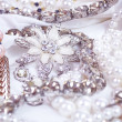 Beautiful jewelry on background — Stock Photo