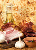 Raw fresh meat with spices — Stock Photo