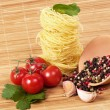 Royalty-Free Stock Photo: Tasty food ingredients and Italian pasta