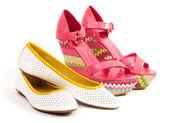 Female fashionable shoes isolated on white background — Stock Photo