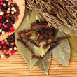 Different type of peppercorns — Stock Photo