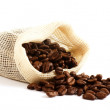 Coffee beans in sack — Stock Photo #26851785
