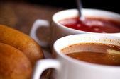 Soup in a bowl closeup — Stock Photo
