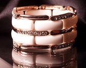 Beige braclete closeup — Stock Photo