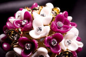 Beautiful jewelry on white background — Stock Photo