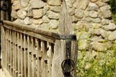 Vintage wooden fence — Foto Stock
