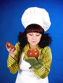 Cook woman — Stock Photo