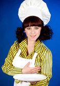 做饭的女人 — 图库照片
