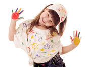 Girl painter — Stock Photo