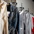 Choice of fashion clothes of different colors — Stock Photo #35616345