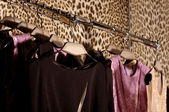 Choice of fashion clothes of different colors — Stock Photo