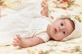 Baby girl in hat — Stock Photo