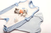 Baby girl colorful clothes — Stock Photo