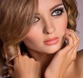 Portrait of beautiful young woman with makeup — Stock Photo